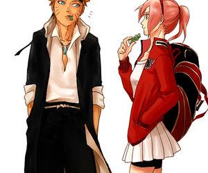 naruto, sakura, and narusaku image