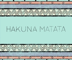 hakuna matata and quote image