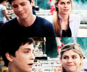 percy jackson, percabeth, and logan lerman image