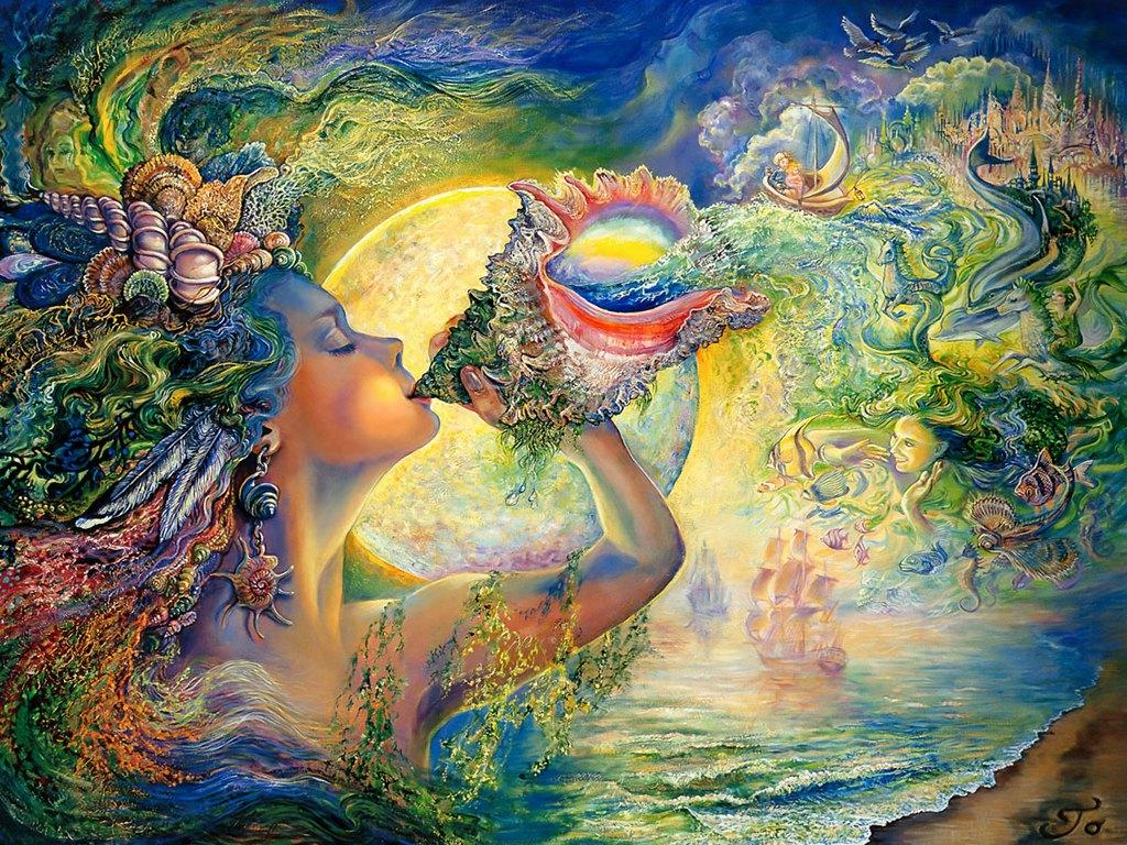 Josephine Wall Paintings - Art gallery on We Heart It