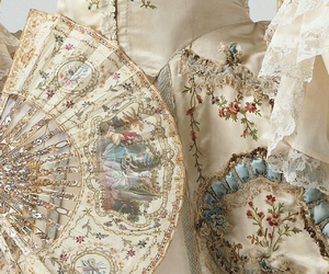 baroque, vintage, and fan image