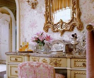 pink, decor, and mirror image