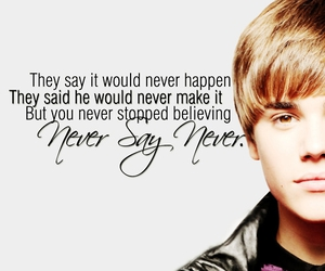 justin bieber and never say never image