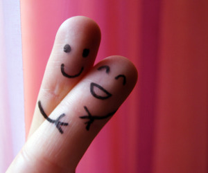 love, fingers, and hug image