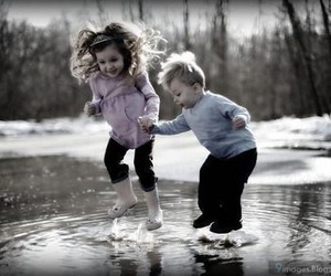 cute, jump, and kids image