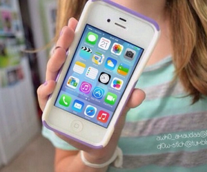 iphone, girl, and ios7 image