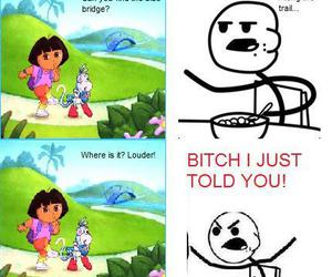 Dora, funny, and cereal guy image