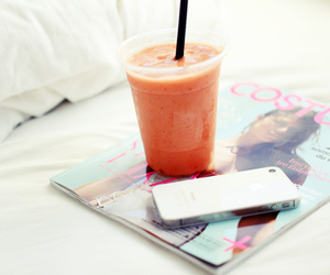 magazine, drink, and iphone image