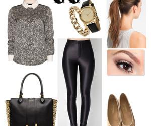 bag, ballerina, and black image