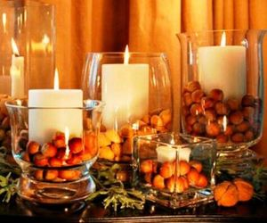 candle, decoration, and autumn image