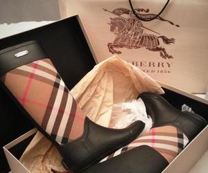 Burberry, fashion, and boots image