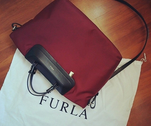accessories, bag, and burgundy image