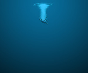 blue, deep, and photography image