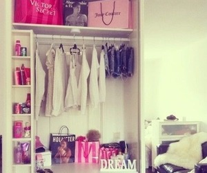 bed, closet, and bedroom image