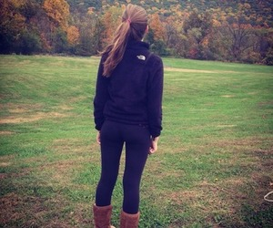 fall, north face, and girl image