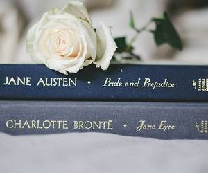 book, rose, and jane austen image