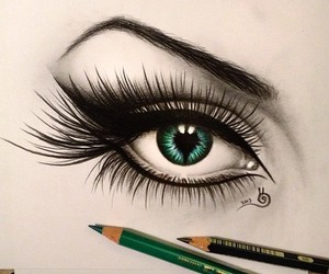 art, eye, and beautiful image