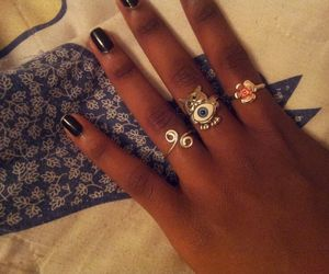 eye, rings, and flowers image
