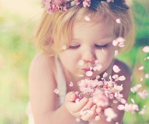 flowers, baby, and child image