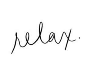 quotes, relax, and text image