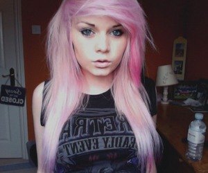 girl, pink hair, and hair image
