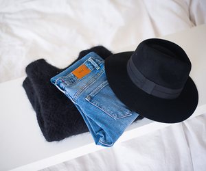 fashion, hat, and jeans image
