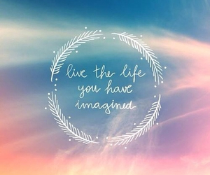 imagine, quote, and sky image