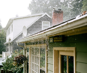 rain and house image