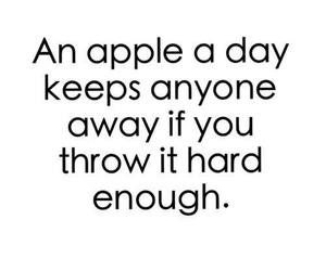 apple and quote image