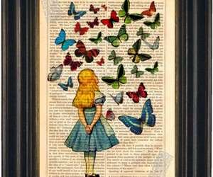 alice, alice in wonderland, and butterflies image