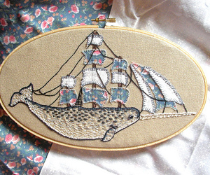 embroidery and vintage image