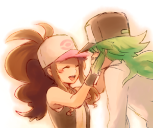 pokemon, touko, and ferriswheelshipping image