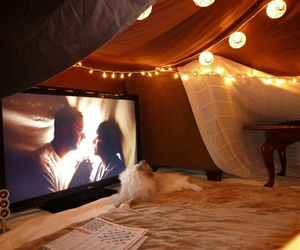 light, movie, and fort image