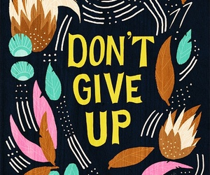 quote, don't give up, and text image