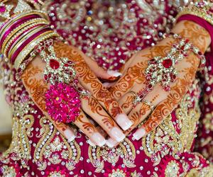 wedding, henna, and india image
