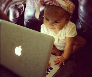 baby, cute, and apple image