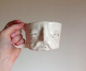 cup, art, and face image