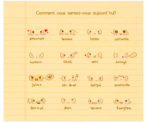 emoticon, feelings, and french image