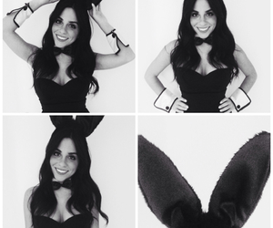 black and white, Halloween, and Playboy image