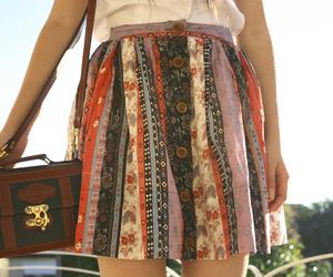 skirt, fashion, and bag image