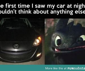 car, night, and toothless image