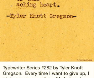 quote, tyler knott gregson, and love image