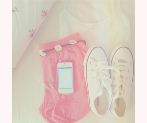 converse, flowers, and love image