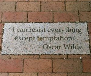 quote, oscar wilde, and temptation image