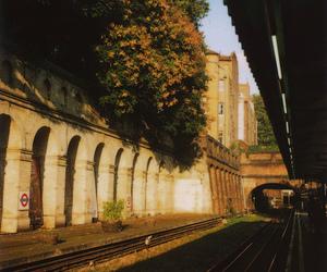autumn, bridge, and britain image