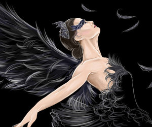 ballet, black swan, and drawing image