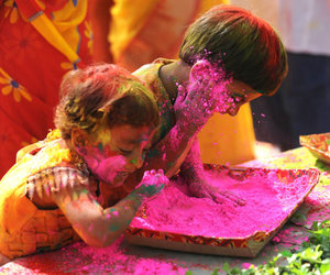 colors, Hindu, and holi image