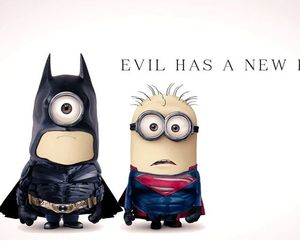 minions, batman, and superman image