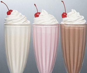 milkshake, chocolate, and cherry image