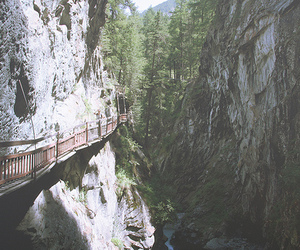 bridge, mountains, and nature image